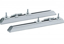 Motor clamping rails made of steel